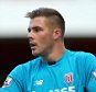 Jack Butland of Stoke City during the Barclays Premier League match between Arsenal and Stoke City played at The Emirates Stadium, London