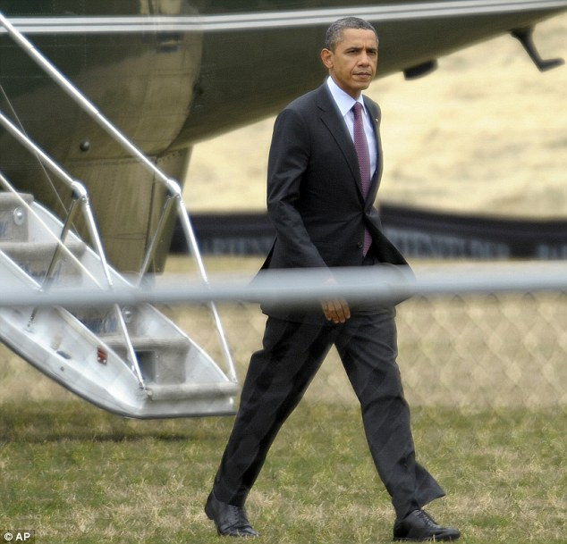 Annoyed: President Barack Obama, seen on Friday, considers Mr Limbaugh's remarks 'reprehensible' and called Ms Fluke to express his disappointment that she was the subject of 'inappropriate personal attacks'