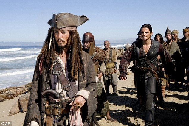 Johnny in one of his most famous roles in Pirates of Caribbean: At Worlds End in 2007, in which he played Jack Sparrow