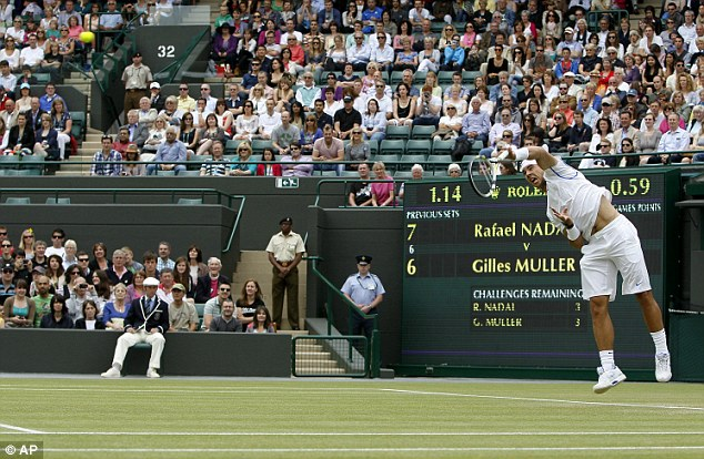 Serving up a treat: Nadal ensured safe passage into week two