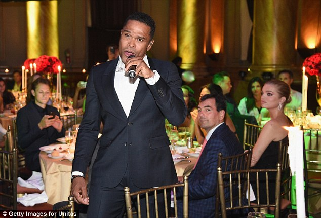 Performance: Singer Maxwell entertained the crowd