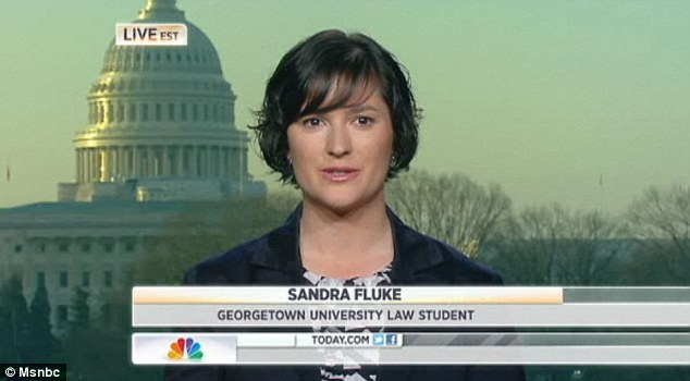 Shock: Ms Fluke told MSNBC's Today show on Friday that she was 'stunned and outraged' by the comments