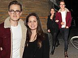 15.SEPTEMBER.2015 - LONDON  - UK\nTOM FLETCHER AND GIOVANNA FALCONE\nCELEBRITIES PICTURED LEAVING THE TRUMAN BREWERY IN BRICK LANE FOR THE COMEDY CENTRAL'S EXPO OF THE HIT SHOW FRIENDS \nBYLINE MUST READ : EBELE / XPOSUREPHOTOS.COM\n***UK CLIENTS - PICTURES CONTAINING CHILDREN PLEASE PIXELATE FACE PRIOR TO PUBLICATION ***\n**UK CLIENTS MUST CALL PRIOR TO TV OR ONLINE USAGE PLEASE TELEPHONE   44 208 344 2007 **