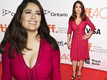"""TORONTO, ON - SEPTEMBER 15:  Actress Salma Hayek attends the """"Septembers of Shiraz"""" premiere during the 2015 Toronto International Film Festival at Roy Thomson Hall on September 15, 2015 in Toronto, Canada.  (Photo by Jason Merritt/Getty Images)"""