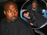 September 14, 2015: Kim Kardashian and Kanye West step out in all black, New York City.\nMandatory Credit: Cepeda/Nelson/INFphoto.com Ref.: infusny-259/293