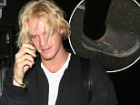 Cody Simpson seen leaving 'The Nice Guy' in West Hollywood, CA....Pictured: Cody Simpson..Ref: SPL1126309  150915  ..Picture by: Jameson Bedonie / Splash News....Splash News and Pictures..Los Angeles: 310-821-2666..New York: 212-619-2666..London: 870-934-2666..photodesk@splashnews.com..