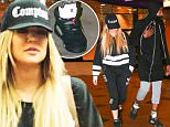 UK CLIENTS MUST CREDIT: AKM-GSI ONLY\nEXCLUSIVE: *PREMIUM EXCLUSIVE* **WEB EMBARGO UNTIL 7AM PST 9/15/15** Calabasas, CA - Khloe Kardashian and James Harden closed down the Edwards Calabasas Cinema, leaving a showing of Straight out of Compton at 12:30 in the morning, twenty minutes after everyone else had exited the show. Khloe looked special in her 'Compton' hat, as Hidden Hills doesn't exactly count as 'the hood.' We also noticed Harden sporting a pair of Nike Air Jordans, Harden signed his $200 million deal which doesn't officially begin until October 1 but still Adidas won't be happy about it **SHOT 09/11/15**\n\nPictured: Khloe Kardashian and James Harden\nRef: SPL1126274  140915   EXCLUSIVE\nPicture by: AKM-GSI / Splash News\n\n