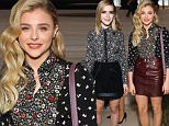 NEW YORK, NY - SEPTEMBER 15:  Actress Chloe Grace Moretz attends the Coach Women's Spring 2016 Show at the Highline during New York Fashion Week on September 15, 2015 in New York City.  (Photo by Astrid Stawiarz/Getty Images for Coach)