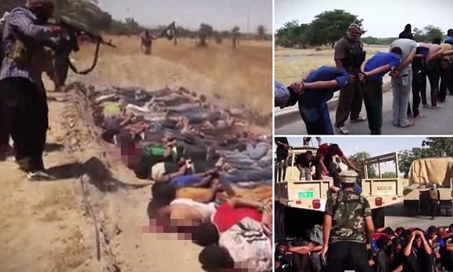 ISIS execution video shows prisoners in mass graves before being machine gunned