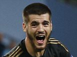 Football - Manchester City v Juventus - UEFA Champions League Group Stage - Group D - Etihad Stadium, Manchester, England - 15/9/15  Alvaro Morata celebrates after scoring the second goal for Juventus  Reuters / Phil Noble  Livepic  EDITORIAL USE ONLY.