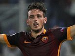 AS Roma's Alessandro Florenzi celebrates after scoring against Barcelona's during their Champions League Group E stage match at the Olympic stadium in Rome, Italy , September 16, 2015. REUTERS/Max Rossi