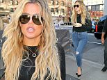 September 15, 2015: Khloe Kardashian was seen returning to her New York hotel in New York City.\nMandatory Credit: T.Jackson/INFphoto.com Ref: infusny-284