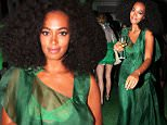 "NEW YORK, NY - SEPTEMBER 15:  Solange Knowles hosts the ""You've Got To Be Seen Green!"" Party at the Brooklyn Botantical Gardens on September 15, 2015 in Brooklyn, New York.  (Photo by Johnny Nunez/Getty Images)"
