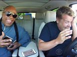 15 September 2015 - Los Angeles - USA  **** STRICTLY NOT AVAILABLE FOR USA ***  Stevie Wonder leaves James Corden in tears after he serenades The Late Late Show's wife during Carpool Karaoke. The legendary singer joined Corden on his drive to work for the fun segment which has previously seen Rod Stewart, Justin Bieber, Mariah Carey and Iggy Azalea in the passenger seat.  The pair kicked off the Carpool Karaoke with a rousing rendition of Superstition before singing several of Wonder's other hits. But it was when Corden called his wife Julia and Wonder sang I Just Called To Say I Love You and changed the lyrics to I Just Called To Say James Loves You that the late night TV host welled up and was seen wiping tears away.  The fun segment kicked off with Wonder in the driving seat with Corden worried about the blind singer being able to drive properly. Wonder claimed he had a driving licence but then joked he'd forgotten it before agreeing to switch seats and become the passenger.   XPOS