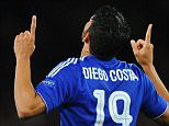 Uefa Champions League.  Chelsea v Maccabi Tel Aviv 16/09/15: Picture Kevin Quigley/solo syndication  Diego Costa scores 3-0