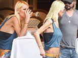 15 Sep 2015 - WEST HOLLYWOOD - USA  WHILST ON A LUNCH DATE WITH A MYSTERY GUY, TARA REID SENDS HER FOOD BACK AND OPTS TO SHARE HAER MANS FOOD AT LE PETIT FOUR CAFE IN WEST HOLLYWOOD!   BYLINE MUST READ : XPOSUREPHOTOS.COM  ***UK CLIENTS - PICTURES CONTAINING CHILDREN PLEASE PIXELATE FACE PRIOR TO PUBLICATION ***  **UK CLIENTS MUST CALL PRIOR TO TV OR ONLINE USAGE PLEASE TELEPHONE  44 208 344 2007 ***