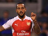 ZAGREB, CROATIA - SEPTEMBER 16:  Theo Walcott scores a goal for Arsenal past Eduardo of Dinamo during the match between GNK Dinamo Zagreb and Arsenal on September 16, 2015 in Zagreb, Croatia.  (Photo by David Price/Arsenal FC via Getty Images)