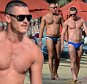 OIC - ENTSIMAGES.COM -  EXCLUSIVE FEES MUST BE AGREED BEFORE USE STRICTLY NO WEB UNLESS AGREED CALL 0203 174 1069 Welsh actor Luke Evans spotted on Mykonos island. Evans was spotted spending some time at the beach with an unknown man who seems to be his boyfriend. 6th September, 2015.\nFees must be agreed prior to publication.\nPhoto Mavrix Photo Inc/OIC 0203 174 1069