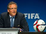 ZURICH, SWITZERLAND - MARCH 20: FIFA Secretary General Jerome Valcke attends a press conference at the end of the FIFA Executive Comitee meeting at the FIFA headquarters on March 20, 2015 in Zurich, Switzerland. (Photo by Philipp Schmidli/Getty Images)