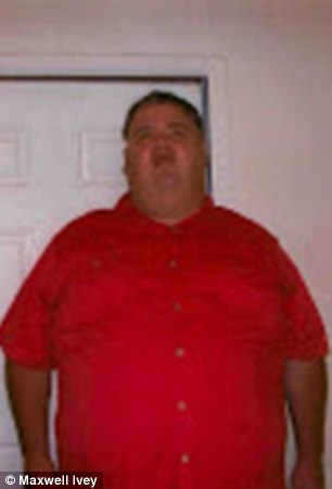 Life-changing choice: Maxwell Ivey, 49, from Texas, weighed nearly 600lbs (pictured), before he underwent weight loss surgery and got down to 250lbs