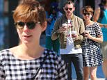 New York, NY - Kate Mara and Jamie Bell return to The Bowery Hotel in New York after a walk for coffee together. The Fantastic Four duo shared a laugh as they waited to cross the street in front of the cameras.\nAKM-GSI    September  16, 2015\nTo License These Photos, Please Contact :\nSteve Ginsburg\n(310) 505-8447\n(323) 423-9397\nsteve@akmgsi.com\nsales@akmgsi.com\nor\nMaria Buda\n(917) 242-1505\nmbuda@akmgsi.com\nginsburgspalyinc@gmail.com