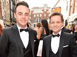 Mandatory Credit: Photo by Richard Young/REX Shutterstock (4763809ap).. Anthony McPartlin McPartlin and Declan Donnelly.. House of Fraser British Academy Television Awards, Arrivals, Theatre Royal, London, Britain - 10 May 2015.. ..