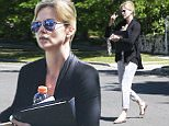 Picture Shows: Charlize Theron  September 17, 2015\n \n Actress and busy mom Charlize Theron is spotted leaving a friend's house in Studio City, California. Charlize recently adopted a baby girl named August, who was missing from the outing. \n \n Non-Exclusive\n UK RIGHTS ONLY\n \n Pictures by : FameFlynet UK © 2015\n Tel : +44 (0)20 3551 5049\n Email : info@fameflynet.uk.com