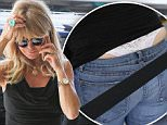 16 September 2015.\nGoldie Hawn's wardrobe malfunction. \nGoldie Hawn pictured at Los Angeles International Airport.\nCredit: BG/GoffPhotos.com   Ref: KGC-300/150916NR2  \n**UK, Spain, Italy, China, South Africa Sales Only**