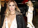 Suki Waterhouse was spotted chatting with friends at the Plaza hotel where she attended the 2015 Harper's BAZAAR ICONS Event but shortly she arrived in the same car with Katy Perry  at Le Bain in the Meatpacking  Pictured: Suki Waterhouse Ref: SPL1129329  170915   Picture by: BlayzenPhotos / Splash News  Splash News and Pictures Los Angeles: 310-821-2666 New York: 212-619-2666 London: 870-934-2666 photodesk@splashnews.com