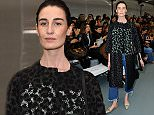 LONDON, ENGLAND - SEPTEMBER 18:  Model Erin O'Connor attends the Eudon Choi show during London Fashion Week Spring/Summer 2016 on September 18, 2015 in London, England.  (Photo by Eamonn M. McCormack/Getty Images)