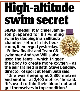 High-altitude swim secret