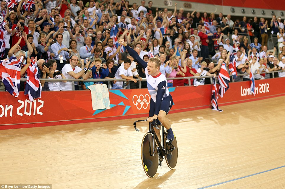 The airless interior of the Velodrome made for a loud, electric atmosphere last night when Chris Hoy helped secure another gold medal for Great Britain
