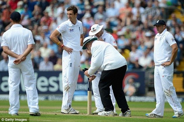 Tough day at the office: England's seamers were made to toil in the field by South Africa