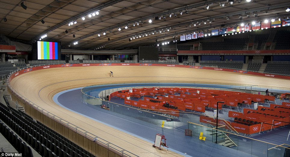 Made to measure: It was Sir Chris Hoy's idea to keep the temperature inside the Velodrome at 28C (82F), as warm air offers less resistance.
