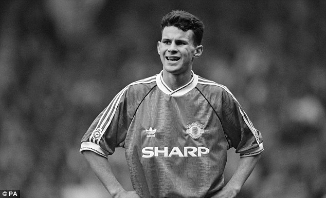 Back in the day: Giggs, pictured on his full Manchester United debut, lost out on the Division On title to Leeds by four points