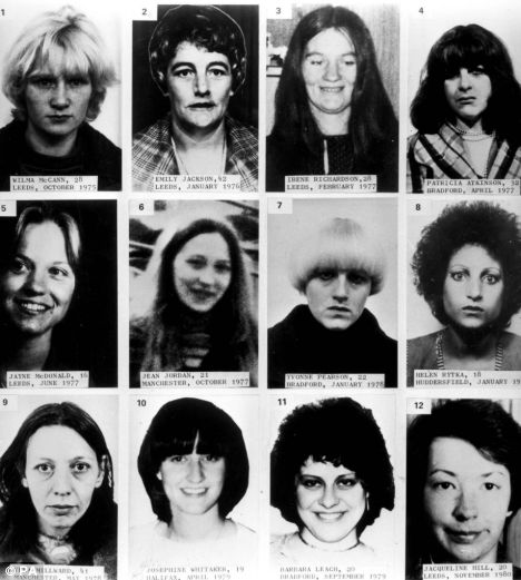 Victims of The Yorkshire Ripper:
