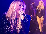 Kesha comes out on stage to perform Whole Lotta Love with Hollywood Vampires during their first show at the Roxy in Hollywood, CA  Pictured: Kesha Ref: SPL1129354  170915   Picture by: London Ent / Splash News  Splash News and Pictures Los Angeles: 310-821-2666 New York: 212-619-2666 London: 870-934-2666 photodesk@splashnews.com