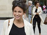 17 Sep 2015  - LONDON   - UK *** EXCLUSIVE ALL ROUND PICTURES *** BRITISH ACTRESS MICHELLE KEEGAN PICTURED LEAVING THE BBC STUDIOS IN LONDON HAVING A LITTLE GIGGLE WITH FRIENDS  BYLINE MUST READ : XPOSUREPHOTOS.COM ***UK CLIENTS - PICTURES CONTAINING CHILDREN PLEASE PIXELATE FACE PRIOR TO PUBLICATION *** **UK CLIENTS MUST CALL PRIOR TO TV OR ONLINE USAGE PLEASE TELEPHONE  442083442007