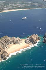aerial view of land's end at cabo san lucas, mexico