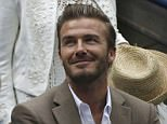 Former Manchester United star David Beckham watched the US Open tennis final alongside American Vogue editor-in-chief Anna Wintour