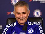 Chelsea FC via Press Association Images MINIMUM FEE 40GBP PER IMAGE - CONTACT PRESS ASSOCIATION IMAGES FOR FURTHER INFORMATION. Chelsea manager Jose Mourinho speaks to the media