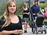 EXCLUSIVE PICTURES OF TINA O'BRIEN AND HER PARTNER ADAM SEEN STROLLING AROUND MEDIA CITY IN MANCHESTER WITH THERE BABY DURING A BREAK IN REHEARSALS FOR THE LIVE EPISODE OF CORONATION STREET\n\n**** EXC PICTURES*****\n\nPICTURES BY STEPHEN FARRELL\n07870 606209\n\n\n\n