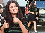 ***MANDATORY BYLINE TO READ INFPhoto.com ONLY***\nEXCLUSIVE Selena Gomez arrives to Despierta America show at Univsion wearing a mini skirt in Miami, Florida. Selena is in Miami to promote the movie Hotel Transylvania 2.\n\nPictured: Selena Gomez\nRef: SPL1130467  180915  \nPicture by: INFphoto.com\n\n
