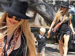 Picture Shows: Axl Duhamel, Fergie  September 17, 2015\n \n Pop star and proud mom Fergie is spotted leaving a park in Brentwood, California with her growing boy Axl. Fergie has been busy as of late working on her new album. \n \n Non Exclusive\n UK RIGHTS ONLY\n \n Pictures by : FameFlynet UK © 2015\n Tel : +44 (0)20 3551 5049\n Email : info@fameflynet.uk.com