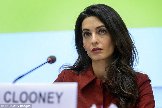 Concern: Amal Clooney has flown to the Maldives to fight for his release pro bono (without asking for payment)