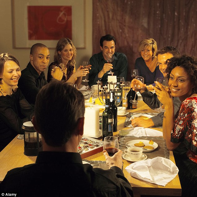 Impressing your friends: Throwing dinner parties makes you cultured, according to the survey