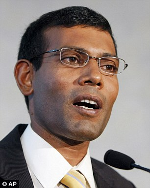 Centre of the case: Former Maldivian president Mohamed Nasheed, who was jailed in 2012. He was the country's first democratically-elected president, but was deposed 'at gunpoint' four years later