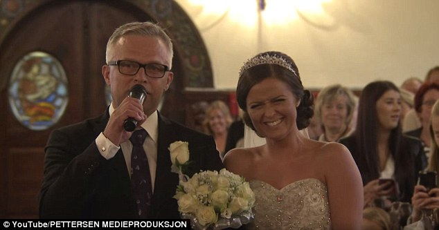 Tøsse's father, Charles, took the mic and sang a verse of his own during the ceremony, something the bride said was her father's own idea