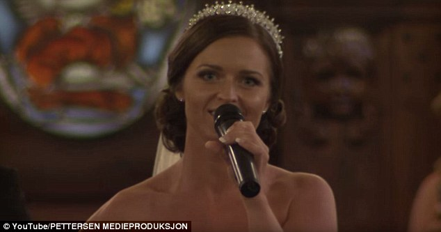 Tøsse was glowing as she serenaded her husband to be. She had a smile on her face for the entire time she was belting out the song