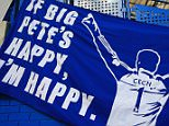 19 September 2015 - Barclays Premier League - Chelsea v Arsenal - A banner hangs at Chelsea, depicting former goalkeeper, Petr Cech. now with Arsenal - Photo: Marc Atkins / Offside.
